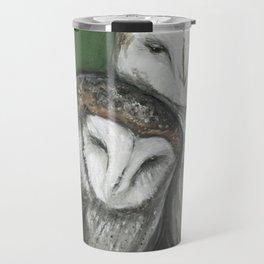 Soul Mates // Barn Owls Owl Bird Feather Wing Nature Love Animal Wild Nest Couple Marriage Family Travel Mug