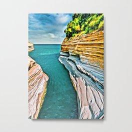 Corfu Greece Islands Digital Painting Metal Print