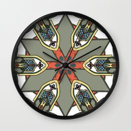 Revive the Gothic Revival in Sage Wall Clock