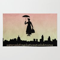 mary poppins Area & Throw Rugs featuring mary poppins by cubik rubik