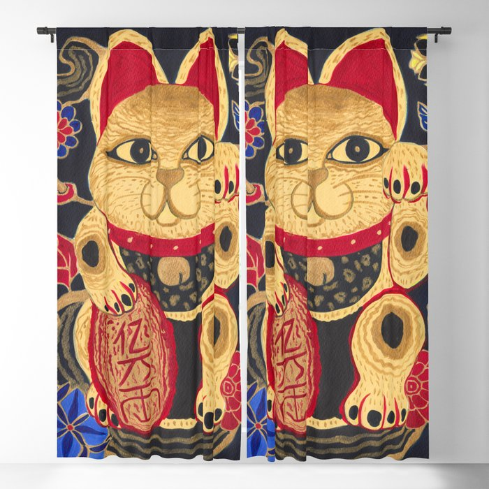 The Gold Cat Blackout Curtain