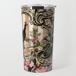 Vintage Floral Music Note Paper Travel Mug