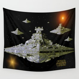 Galactic Battle Cruisers  Wall Tapestry
