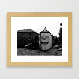 Face in a place. Framed Art Print