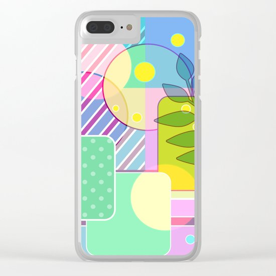 An abstract painting .   Good morning! Clear iPhone Case