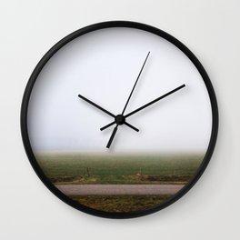 Foggy field, Netherlands Wall Clock