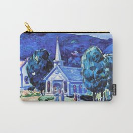 13,000px,500dpi-George Luks - Church, Old Chatham Berk. Hills - Digital Remastered Edition Carry-All Pouch