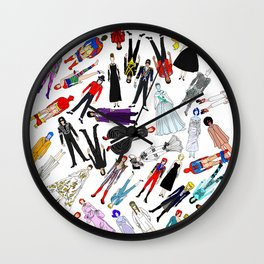 Costume Party 1 Wall Clock