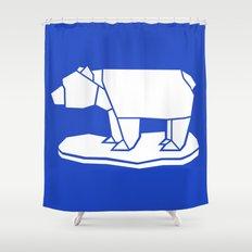 Origami Polar Bear Shower Curtain