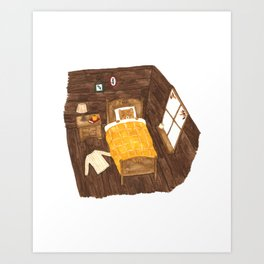 Bear on an Autumn Morning Art Print