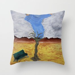 Deserto e Palco Throw Pillow