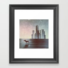 LEAVING CITY Framed Art Print