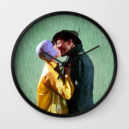 Singin' in the Rain - Green Wall Clock