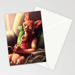 Hilda the Sphynx cat! Stationery Cards