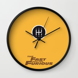 Lab No. 4 - The Fast and the Furious Movie Inspire Quotes Poster Wall Clock