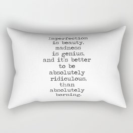 Imperfection is beautiful -Marilyn Rectangular Pillow