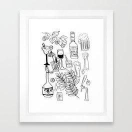 Alcohol Doodles Framed Art Print