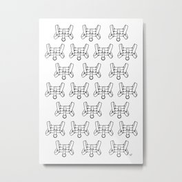 Chest Harness Pattern (invert) Metal Print
