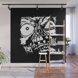 Flattened Monster Face Wall Mural