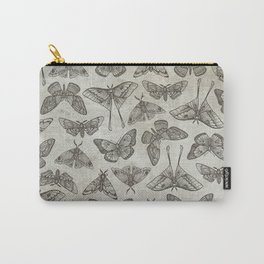 Lepidoptera Beige Carry-All Pouch