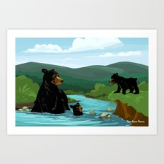 Black Bears Art Print