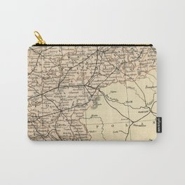 Old Map of Germany Carry-All Pouch