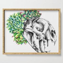 Rock Rose Cat Skull Serving Tray