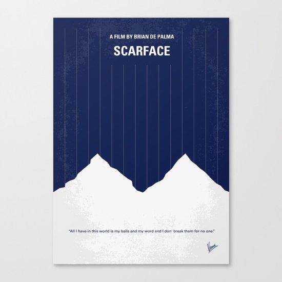 No158 My SCARFACE minimal movie poster Canvas Print