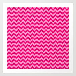 Pink Morroccan Moods Chevrons Art Print