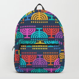 Hanukkah Menorah Pattern 2 Backpack