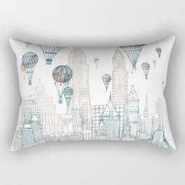 Voyages Over New York ~Refresh Rectangular Pillow