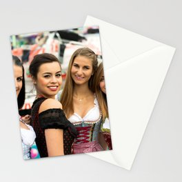 Gorgeous young women at German funfair Stationery Cards