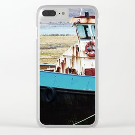 Rusted ship Clear iPhone Case