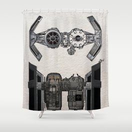 Tie Bomber color Patent Shower Curtain