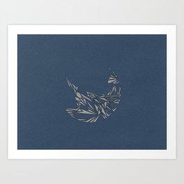 Pareidolia (Blue) Art Print