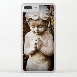 decaying prayers Clear iPhone Case