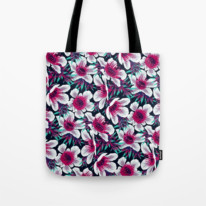Manuka Floral Print -  Light Tote Bag