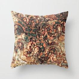 Batik abstract pattern Throw Pillow