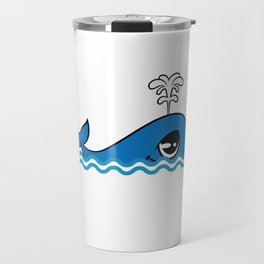 """Cute and adorable """"Comic Whale"""" tee design for you and your friends! Give the best tee this holiday! Travel Mug"""