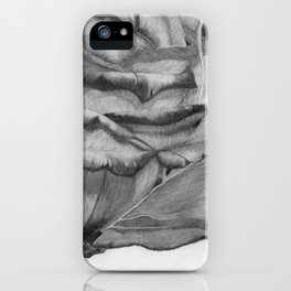 OPEN UP IN BLACK & WHITE iPhone Case