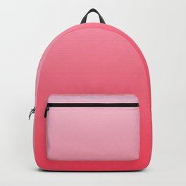 Ombre Pink Rose Gradient Pattern Backpack