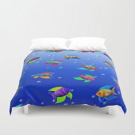 Bright Tropical Fish Duvet Cover