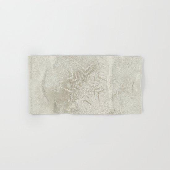 Delicate ivory star mandala Hand & Bath Towel