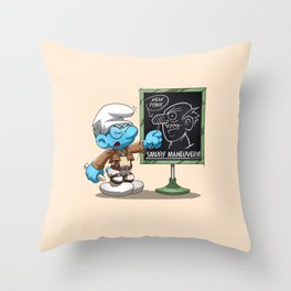 Attack on Titan Smurf Edition Throw Pillow