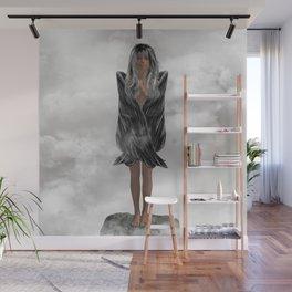 Grey Angel Wall Mural