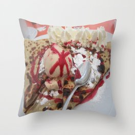 crepe deliciousness Throw Pillow