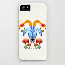 chinese goat iPhone Case