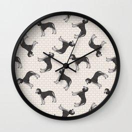 Hand drawn cute saluki breed dog.  Wall Clock