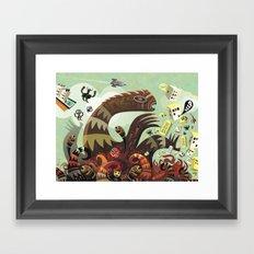 Tsuna me  Framed Art Print
