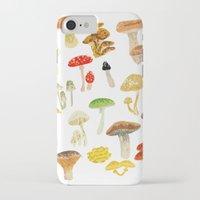 mushrooms iPhone & iPod Cases featuring Mushrooms by Lara Paulussen